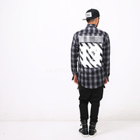 XQUARE 13 Logo Printed Plaid Shirt