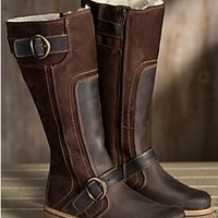 Women's Bos & Co Outercity Tall Leather Boots with Wool Lining