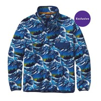 Patagonia Men's Lightweight Synchilla® Snap-T® Pullover | Fitzroy Wave: Channel Blue