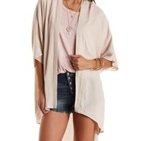 Cream Lace-Back High-Low Duster Kimono by Charlotte Russe