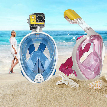 Scuba Snorkel Water Mask with Go Pro Compatible Camera Mount.