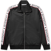 Givenchy - Rubber-Appliquéd Satin-Jersey Track Jacket