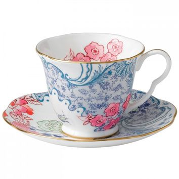 Wedgwood Butterfly Bloom Spring Blossom Tea Cup and Saucer