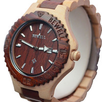 Maple with Mahogany Wooden Watch