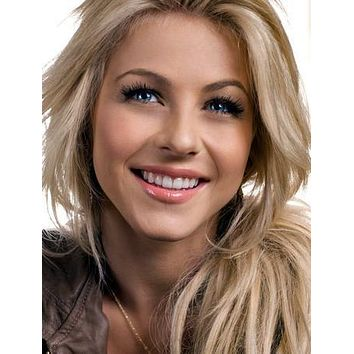Julianne Hough Close Portrait poster Metal Sign Wall Art 8in x 12in