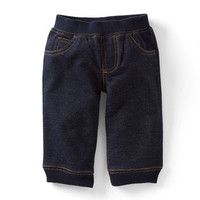 French Terry Denim-Look Pants