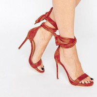 Public Desire Sakura Ankle Tie Barely There Heeled Sandals