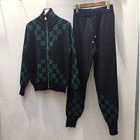 LV Louis Vuitton New Popular Women Casual Round Collar Top Pants Set Two-Pie