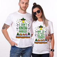 Why is the carpet all wet, Todd I don't know Margo, Christmas Shirts, Funny Christmas Shirts, Funny Christmas Couple, Christmas Couple Shirt