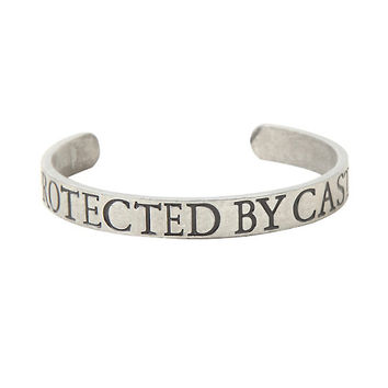 Supernatural Protected By Castiel Cuff Bracelet