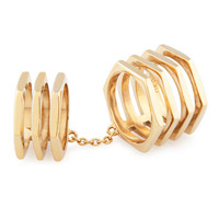Double Down Metal Ring