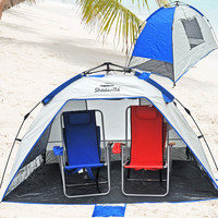 Large Family Instant Popup Beach Tent Shelter Cabana with Carrying Bag