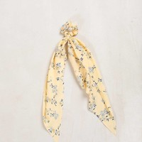 Trinity Yellow Floral Scrunchie