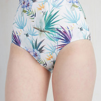 Vintage Inspired On a Tide Note Swimsuit Bottom