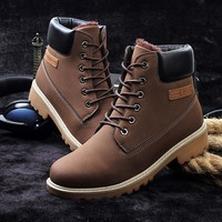 Fashion Strappy Round Toe Boots Shoes