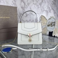 BVLGARI WOMEN'S LEATHER SERPENTI HANDBAG INCLINED SHOULDER BAG