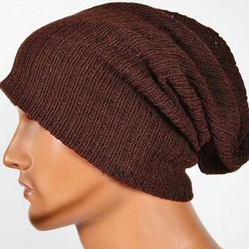 Fashion mens hats knitted wool  beanie hat Hip Hop Cap Male Casual skullies And beanies for men bonnet Homme Gorro GS