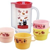 Kiki's Delivery Service Design 4pcs Stacking Plastic Cups & a Pitcher for Storage