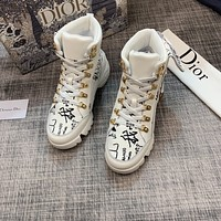 dior fashion men womens casual running sport shoes sneakers slipper sandals high heels shoes 370