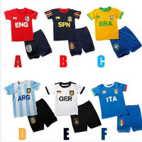 Boys Soccer Jersey Baby Boy Clothes New Cotton Breathable Sport Soccer Suit Soft Kids Short Sleeve Fashion Youth Football Team Children Clo