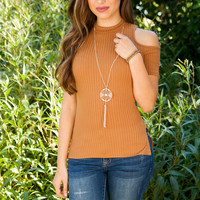 Heart On Your Sleeve Top - Camel