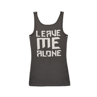 Ladies Leave Me Alone Tank Charcoal