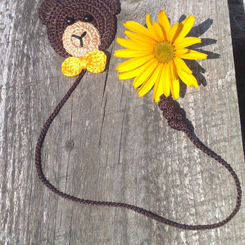 Crochet Bookmark - Crochet bear