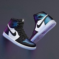 Air Jordan Fashion leisure sports warm high-top shoes for men and women-13