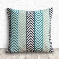 Pillow Cover, Pillow Case, Cushion Cover, Linen Pillow Cover 18x18 - Printed Geometric - 201