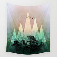 TREES under MAGIC MOUNTAINS IV Wall Tapestry by Pia Schneider [atelier COLOUR-VISION]