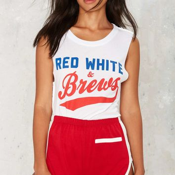 Social Decay Red White & Brews Muscle Tank