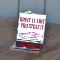 Car lover gift idea | Drive it like you stole it | Car guy, gear head, Ford Mustang fan gift | Sweet 16 birthday gift