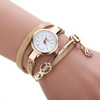 Golden Wrap Bracelet Watch