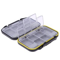 Fishing Lure Bait Tackle Pesca Acesorios Waterproof Storage Box Case With 12 Compartments fishing box BHU2