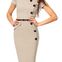 Miusol Womens Business Pencil Bodycon Formal Evening Cocktail Party Dresses