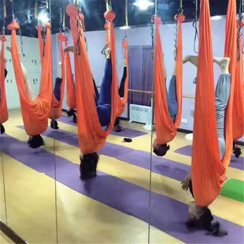ONLY Fabric 7meters Aerial Yoga Hammock  Anti-gravity yoga swing 20 color options Shipping by Post