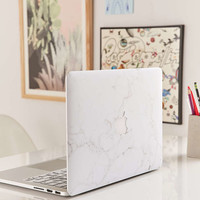 White Marble MacBook Cover - Urban Outfitters