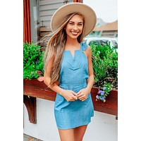 Village Walk Dress: Chambray