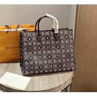 Louis Vuitton New Onthego Canvas Series Ladies Handbag Shoulder Bag Two Colors Available