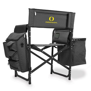 Oregon Ducks - Fusion Backpack Chair with Cooler, (Dark Gray with Black Accents)