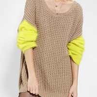 Shae Oversized Contrast Sleeve Sweater - Urban Outfitters