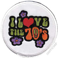70s Retro I Love The 70's Patch on Sale for $3.99 at HippieShop.com