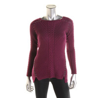 Grace Elements Womens Cable Knit Studded Tunic Sweater