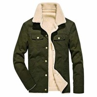 Mens Winter Fleece Thicken Jackets