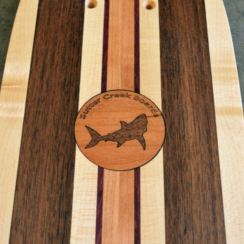 """22 inch Mini Penny kicktail Skateboard """"Honolua Bay"""" with shark inlay, deck only"""