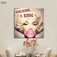 VCC Marilyn Monroe Canvas Art Print Picture,Paintings On The Wall Art Canvas Painting,Wall Pictures For Living Room,Home Decor