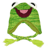 Green Frog Knit Hat