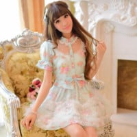 Japanese princess sweet bowknot tutu dress