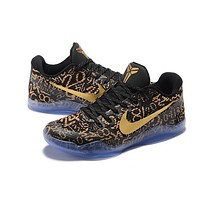 Nike Kobe XI Elite Black Gold Basketball Trainers Size US7-12