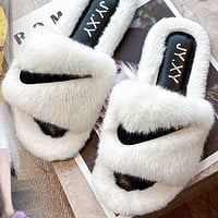 NIKE Slippers Women's Winter Indoor New Flip-Flops Home Furnishing Thick-soled Outer Wear Slippers